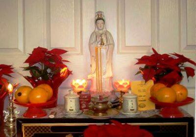 Kệ thờ Phật Quan Âm