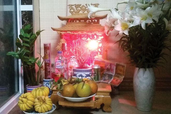 Sắp xếp bàn thờ Thần Tài sau khi mua