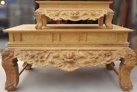 Sập thờ gỗ Hương hiện đại