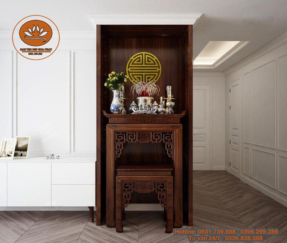 Bàn thờ án gian BT 054 cho không gian gia đình